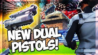 NEW DUAL PISTOLS, FIREWORK LAUNCHER, AND PLAYGROUND MODE!! PATCH NOTES V4.5 (Fortnite Battle Royale)