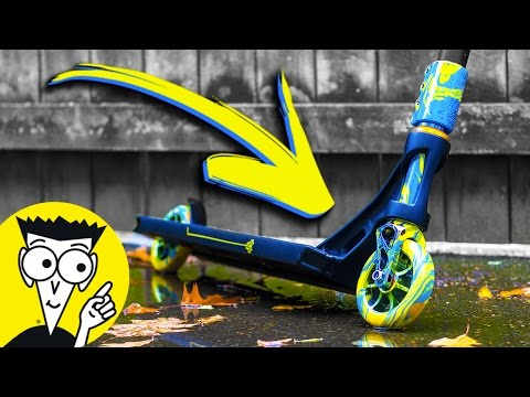 HYDRO DIPPING SCOOTERS FOR DUMMIES *DIY WITH PAINT*
