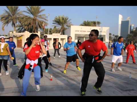 Filipino Fitness and Health Qatar Dance Exercise at Corniche Qatar