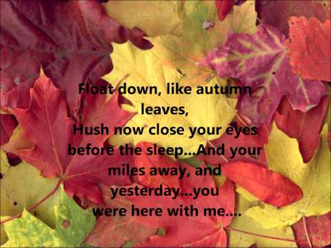 Ed Sheeran Autumn Leaves with lyrics