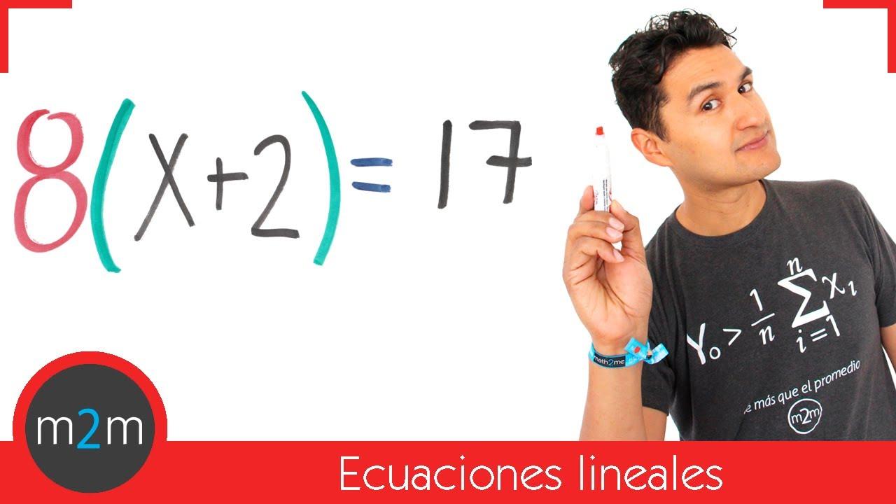 Ecuaciones De Primer Grado Con Paréntesis Youtube