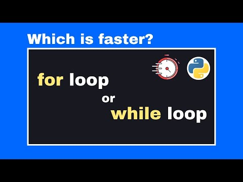 For Loop vs While Loop: Which one is ACTUALLY faster in Python? (Speed Comparison)
