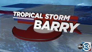 WATCH LIVE: Tropical Storm Barry has formed in the Gulf, impacts to Houston less likely