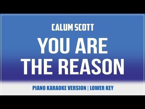 You Are The Reason (Piano Version LOWER KEY) KARAOKE - Calum Scott