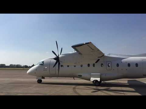 Start up Dornier 328 prive vliegtuig - prive jet - prive vlucht Maastricht.