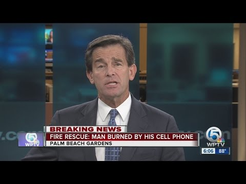 Fire rescue: Man burned by his cell phone