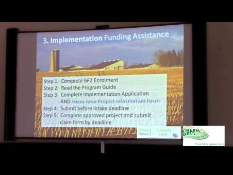 Growing Forward 2 -  Filling Out Funding Applications - Session 9