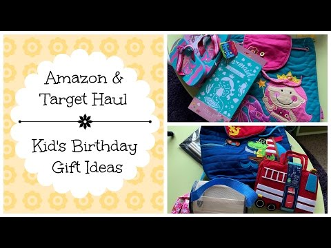Amazon & Target Haul || Kids Birthday Gift Ideas || Stephen Joseph's Back Packs