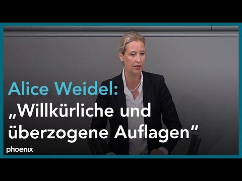 Alice Weidel in der Generalaussprache zur Politik der Bundesregierung am 30.09.20.