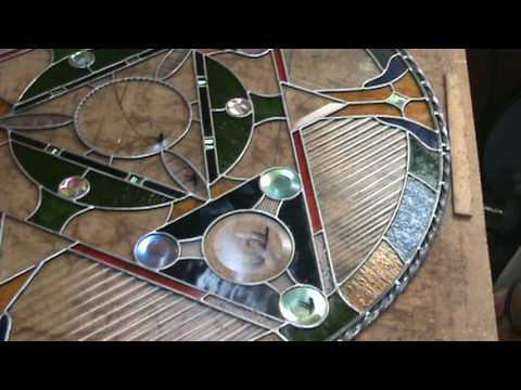 Stained glass soldering decorative edge - 32inch circle 9f