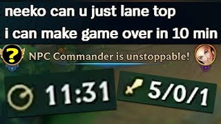 """""""i can make game over in 10 min if i can mid"""" (I deliver, almost)"""