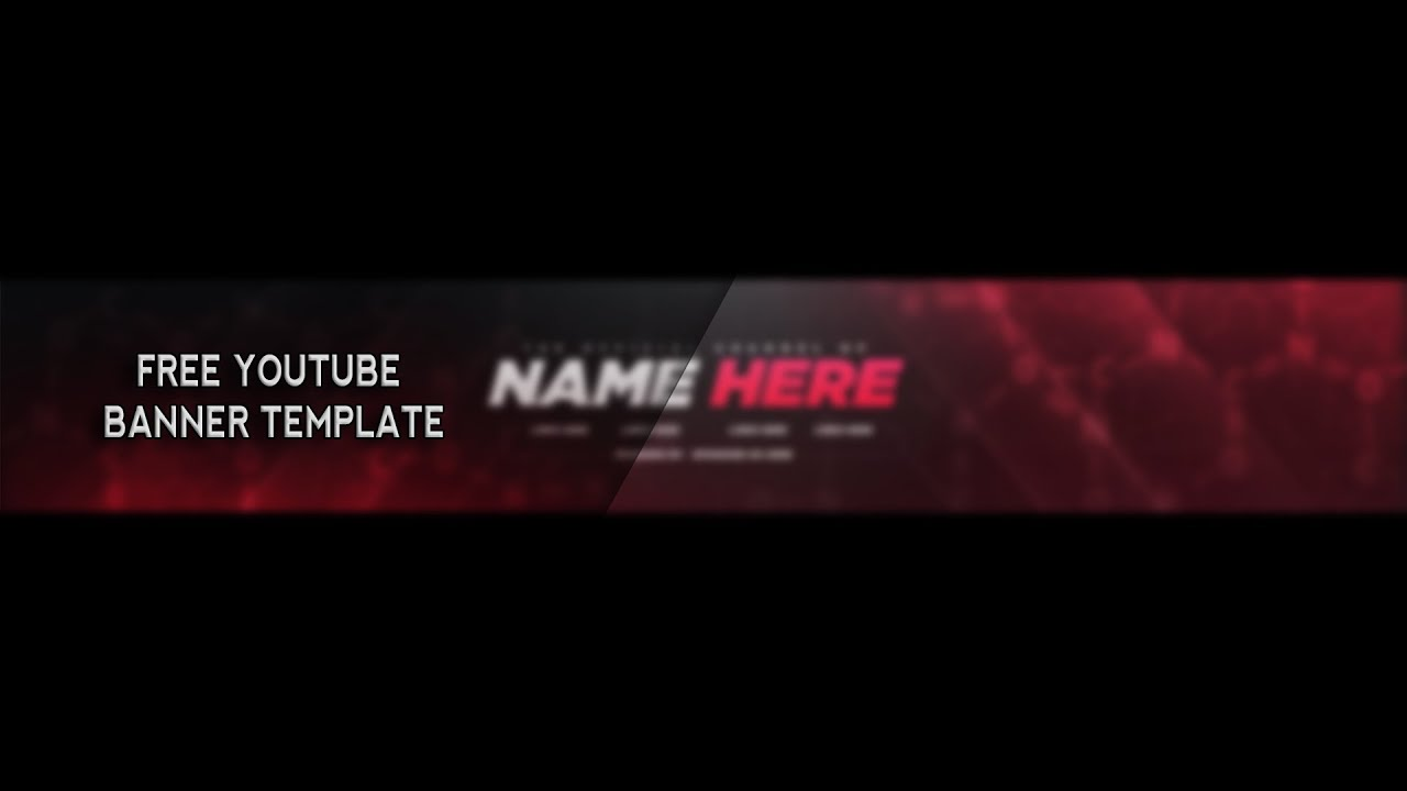 free youtube banner template photoshop 2017 youtube