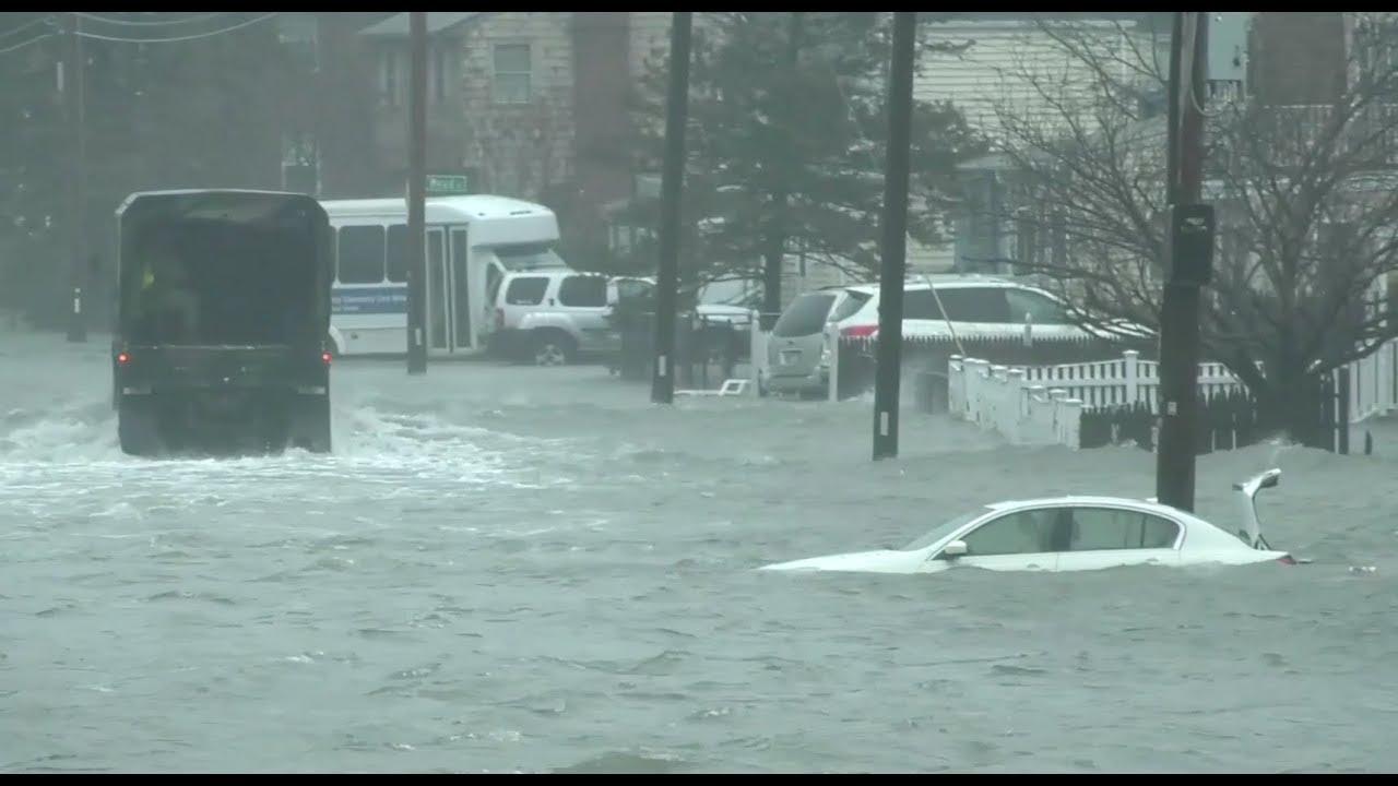 Winter Storm Flooding Hits Massachusetts - YouTube