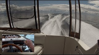 Boat Ride Back - Awesome Conditions! Sea Ray Sundancer