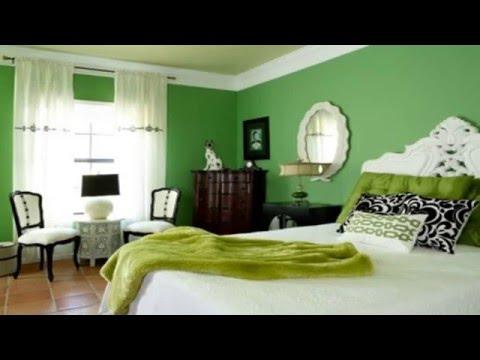 Wooden Floor Installation for Beautiful Green Bedroom Design Concept