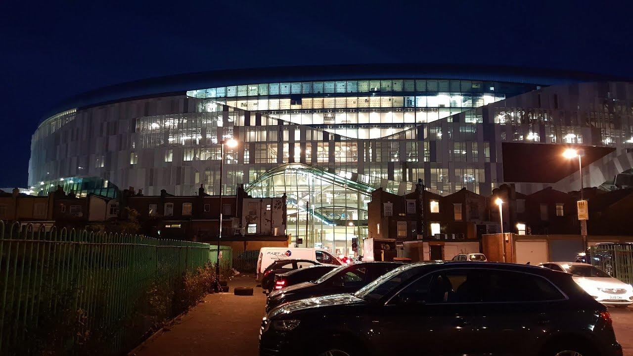 Spurs New Stadium White Hart Lane Night View 22nd December 2018 Youtube