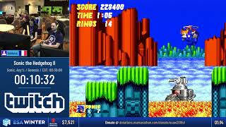 #ESAWinter19 Speedruns - Sonic the Hedgehog II [Sonic, Any%] by linkboss