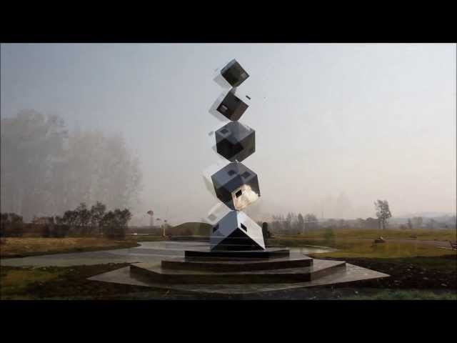 Ralfonso - CUBE TOWER - Kinetic Wind Sculpture - Changchun China