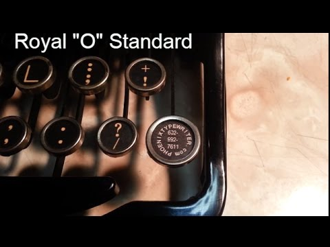 Royal Manual Typewriter Paper Bail rollers reassembly demo