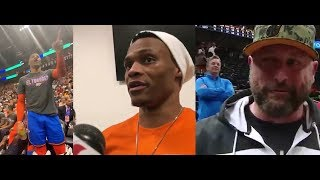 Video of Incident, Reactions of Russell Westbrook & Jazz Fan! Thunder vs Jazz Fan Altercation!