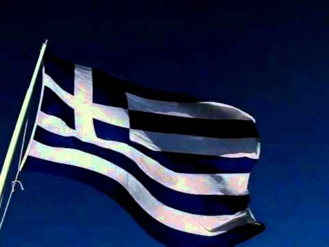 Hellenic Flag waving-v1. HD video