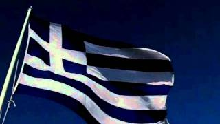 Hellenic Flag waving-v1. HD video