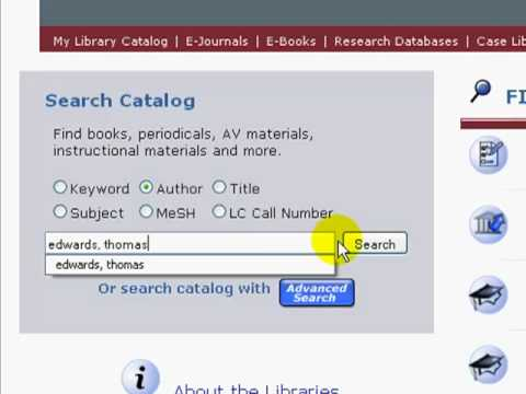 KSL Catalog Author Search