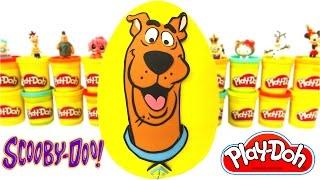 Huevo Sorpresa Gigante de Scooby Doo en Español de Plastilina Play Doh