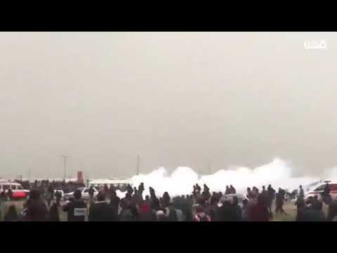 People being attack by drone at gaza