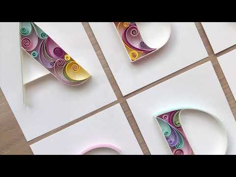 QllArt | Quilling letter A | Paper Alphabet | Квиллинг буквально А