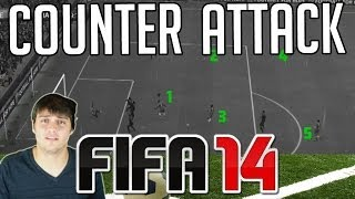 FIFA 14 Tutorials & Tips   How to Counter Attack   Using Quick Tactics / Mentality (Best FIFA Guide)