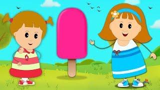 Aprender los Colores con Paletas Heladas 3D  Campo Infantil