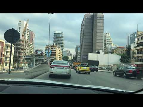 Beirut Traffic first impressions after Landing and taking taxi from airport to Downtown Beirut