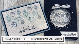 Beautiful Baubles Christmas Card Ideas
