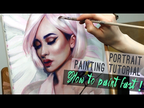 Portrait painting tutorial   HOW TO PAINT FAST