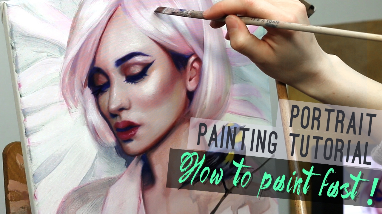 Portrait painting tutorial how to paint fast youtube its youtube uninterrupted baditri Image collections