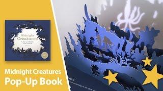 Midnight Creatures Shadow Pop-Up Book by Helen Friel