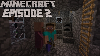 Minecraft(1.11.2)-Getting coal and Finding a village!!(Episode 2)
