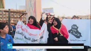 سكان مدينة الصدر يتظاهرون احتجاجا على