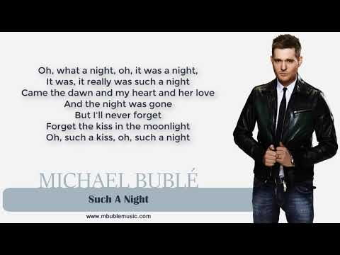 Michael Bublé - Such A Night [Lyrics]
