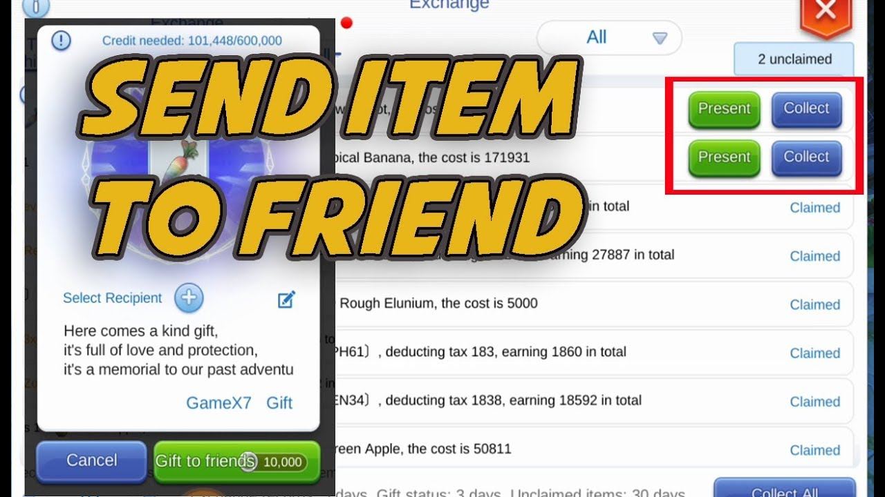 Send Item Gift To Friend Ragnarok M Eternal Love