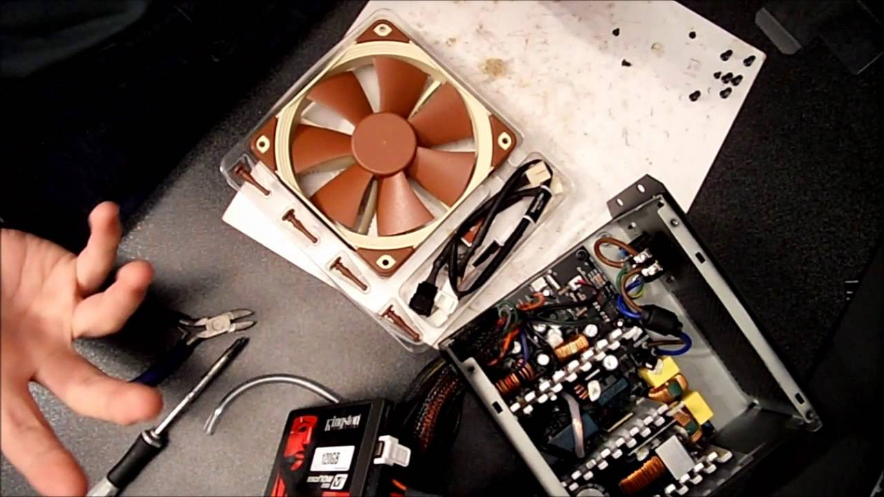 How to: change the fan of your power supply  YouTube