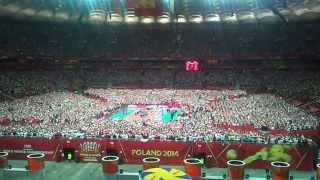 Polska - Serbia mecz otwarcia MŚ.Hymn Narodowy 30.08.2014