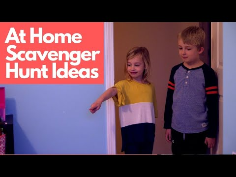 At Home Scavenger Hunt Ideas!