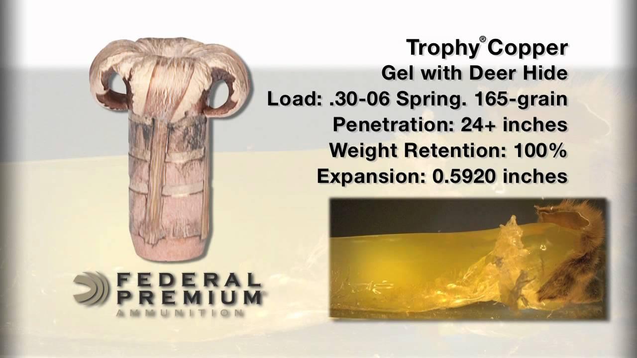 Bullet Performance: Federal Premium Trophy Copper Rifle