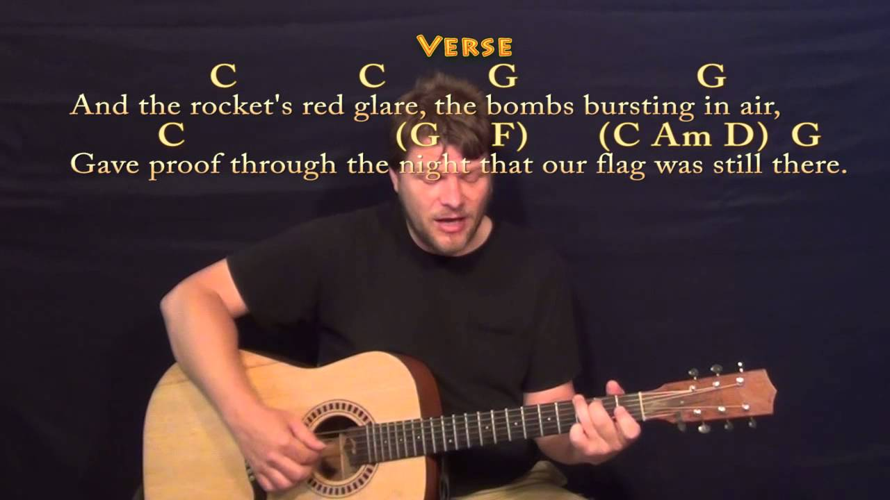 The Star Spangled Banner Fingerstyle Guitar Cover Lesson With