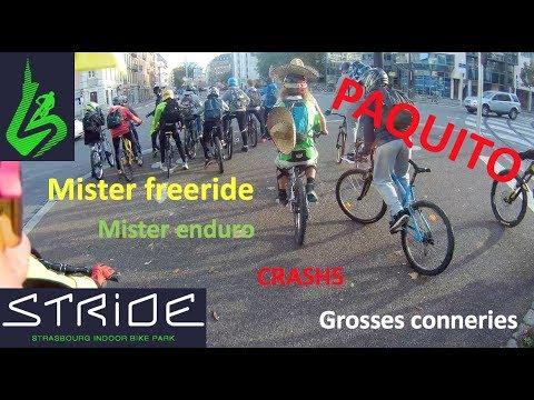 RASSEMBLEMENT AU STRIDE MISTER FREERIDE // CA TOURNE MAL // VTT URBAIN // CRASHS // PAQUITOOO