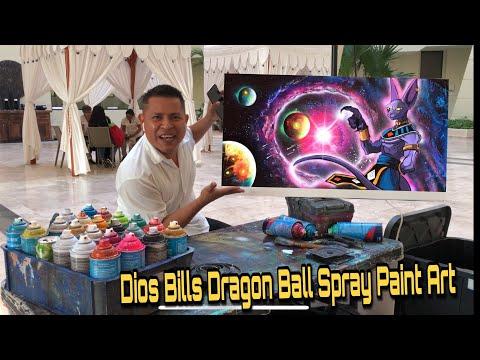 Bills Dragon Ball Spray Paint art