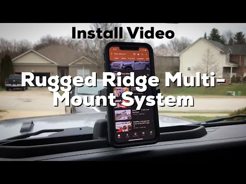 Installing The Rugged Ridge Multi-Mount System On The Jeep JL
