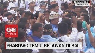 Prabowo Temui Relawan di Bali, Ratusan Pendukung Nyanyikan Lagu Selamat Ulang Tahun Untuk Prabowo